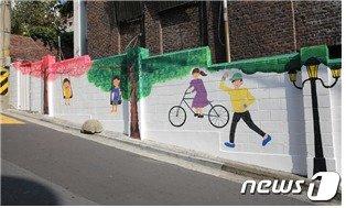 용산경찰서 벽화 (용산경찰서 제공)© 뉴스1