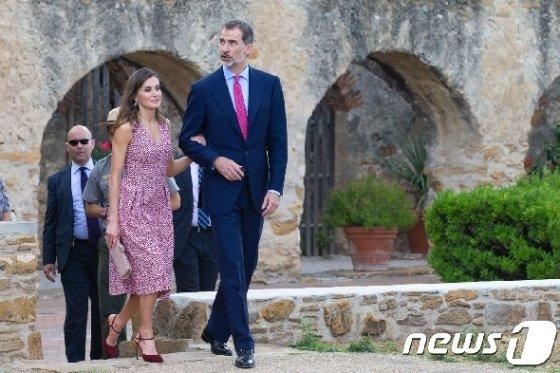 펠리페 6세 스페인 국왕과 레티시아 왕비. © AFP=뉴스1