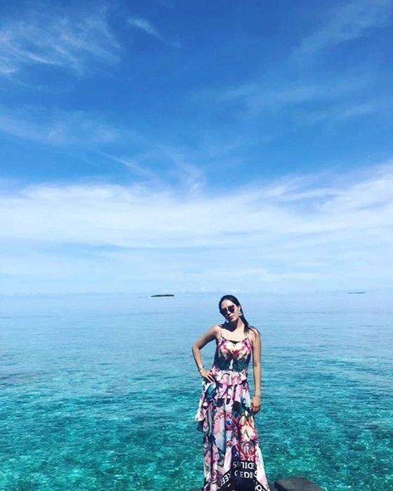 강남이 22일 자신의 인스타그램에 이상화와 함께 떠난 신혼여행 사진을 공개했다./사진=강남 인스타그램 캡처