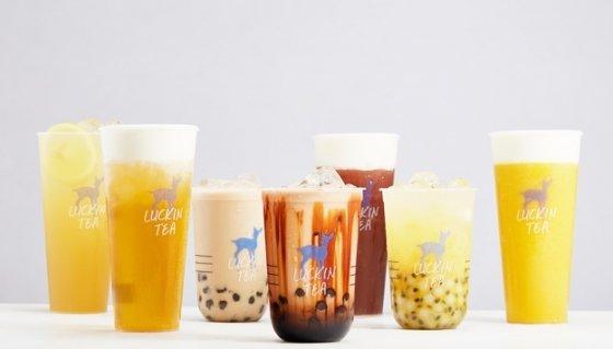 중국 루이싱커피가 판매하는 다양한 음료. /사진=루이싱커피