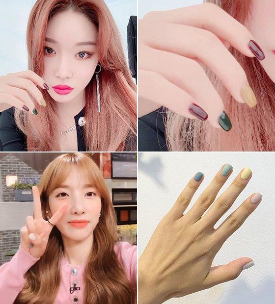 가수 청하, 지숙/사진=각 스타 인스타그램