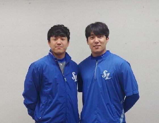 삼성 양창섭(왼쪽)-원태인. /사진=김동영 기자