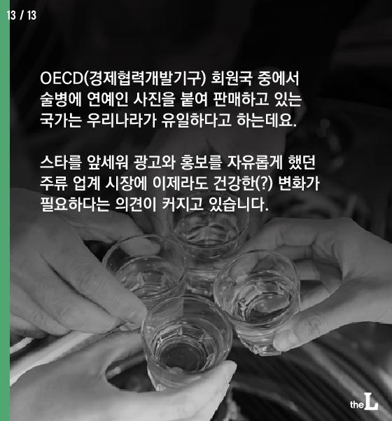 [카드뉴스] 담뱃갑엔 혐오사진, 소주병엔 미녀사진