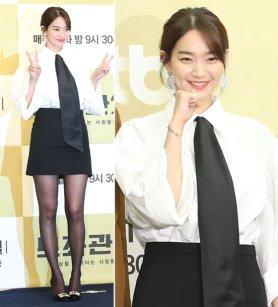 '보좌관2' 신민아, 블랙 앤 화이트 패션도 '러블리'
