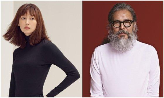탑텐 온에어 이나영 모델컷(왼쪽), 스파오 웜테크 김칠두 모델컷./사진제공=각 브랜드