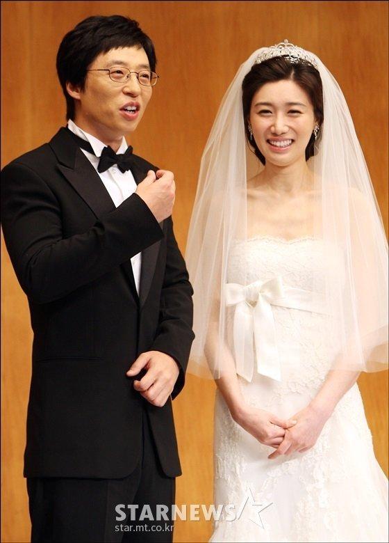 유재석(왼쪽)·나경은 부부. /사진=스타뉴스