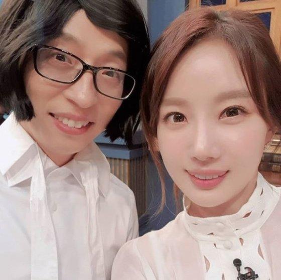 방송인 유재석(왼쪽), 신예지/사진=신예지 인스타그램
