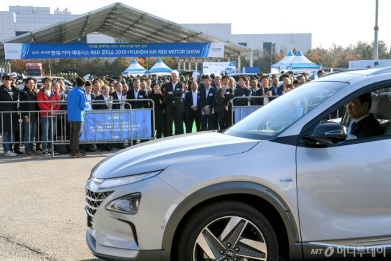 현대·기아차가 경기도 화성시에 위치한 현대·기아차 남양연구소에서 개최한 '2019 R&D(연구·개발) 협력사 테크 페스티벌' 모습. /사진제공=현대·기아차
