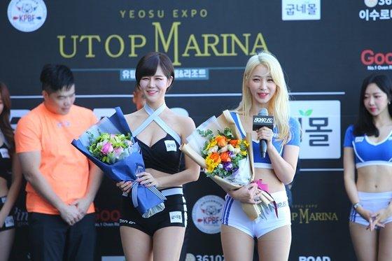 생일을 맞은 한혜은(왼쪽)과 임지우. /사진=로드 FC