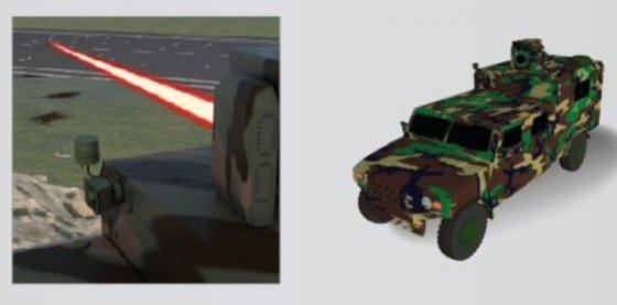 레이저 폭발물처리기 형상도