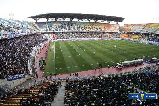 1만5816명이 입장한 수원월드컵경기장 모습. /사진=대한축구협회 제공