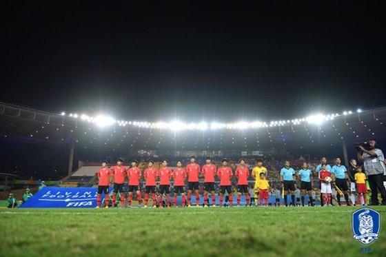 17세 이하(U-17) 한국축구대표팀. /사진=대한축구협회