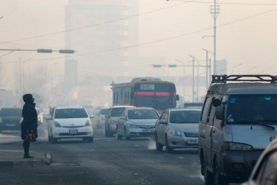 몽골 울란바토르 겨울 풍경. 2019.02.14 /사진=AFP