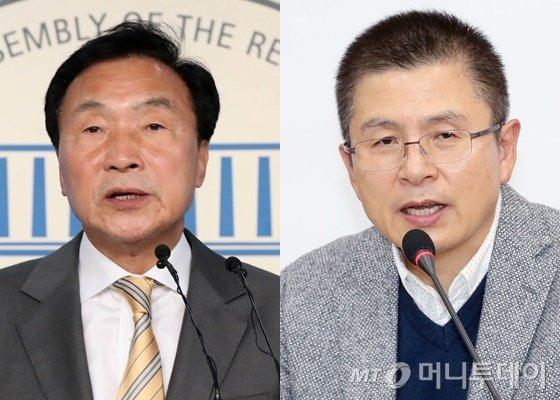 손학규 바른미래당 대표(왼쪽)와 황교안 자유한국당 대표/사진=머니투데이DB