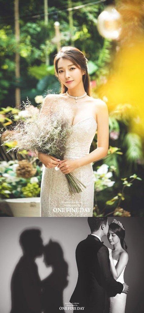 가수 이상미 웨딩화보/ 사진= 원파인데이스튜디오 제공