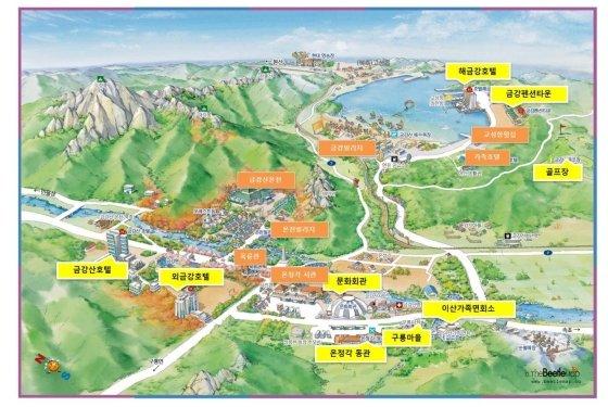 금강산 내 주요시설 현황 /사진=통일부 제공