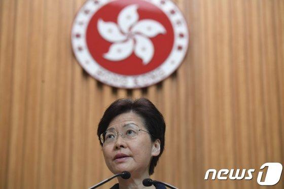 캐리 람 홍콩 행정장관. /AFPBBNews=뉴스1.