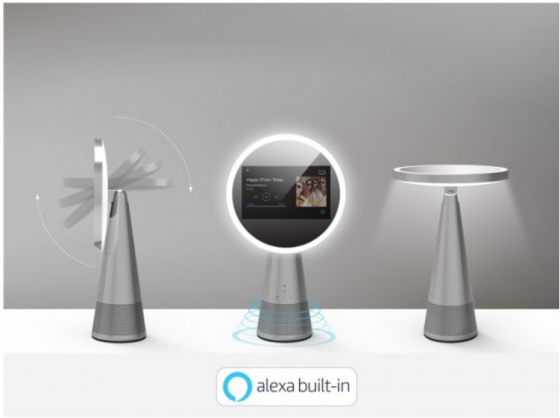 CES 2020 스마트홈 부문에서 혁신상을 수상한 ICON.AI의 알렉사가 탑재된 스마트 메이크업 미러(Smart Makeup Mirror with Alexa Built-in)/사진제공= ICON.AI
