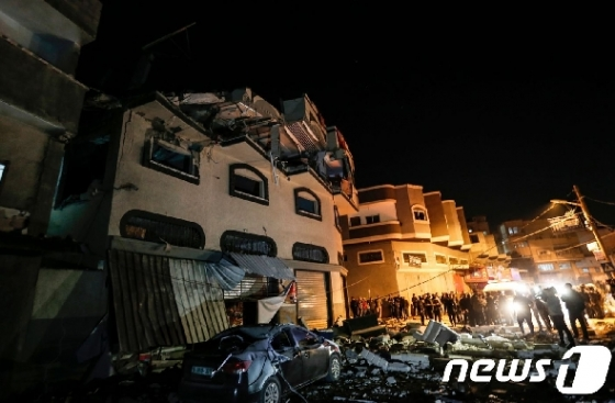 이스라엘軍, 팔레스타인 무장정파 목표 '연쇄 공습'