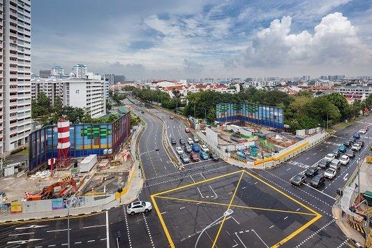 싱가포르 도심 지하철 TEL 308 공구 현장 전경/사진 제공=쌍용건설