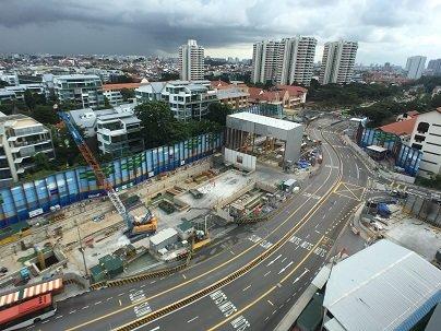 싱가포르 도심 지하철 TEL 308라인 공구 현장 전경/사진 제공=쌍용건설