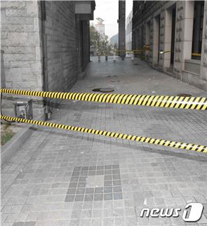 [사진] 고려대에서 맨홀뚜껑 폭발사고 발생 '진입통제'