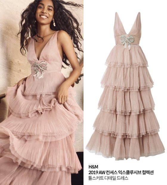 H&M 2019 AW 컨셔스 익스클루시브 컬렉션 튤 스커트 디테일 드레스/사진=H&M