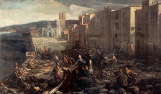 1720년 흑사병으로 떼죽음을 당했던 마르세유를 그린 그림. / 사진 = 마르세유 박물관 'Musée des Beaux Arts Marseille'