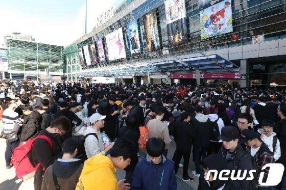 지난해 11월 부산 해운대구 벡스코 제1전시장에서 열린 '2018 지스타' 모습이다.  © News1 여주연 기자