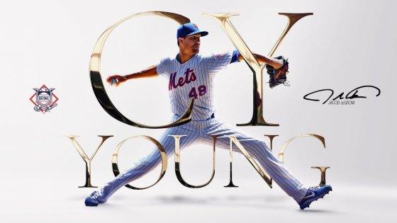 내셔널리그 사이영상의 주인공 제이콥 디그롬/사진=MLB 공식 트위터