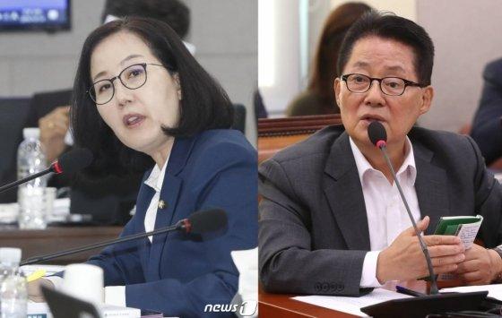 사진 왼쪽부터 김현아 자유한국당 의원, 박지원 대안신당 의원/사진=뉴스1, 홍봉진 기자