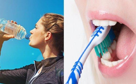 입 냄새 방지에는 물 마시기, 꼼꼼한 양치질이 도움된다. / 사진 = 데일리메일, 가버먼트테크놀로지