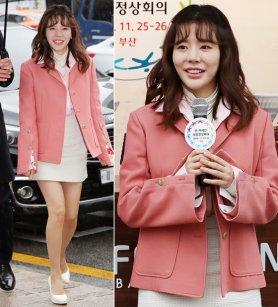 소녀시대 써니, 핑크빛 패션…사랑스러운 미소 '눈길'