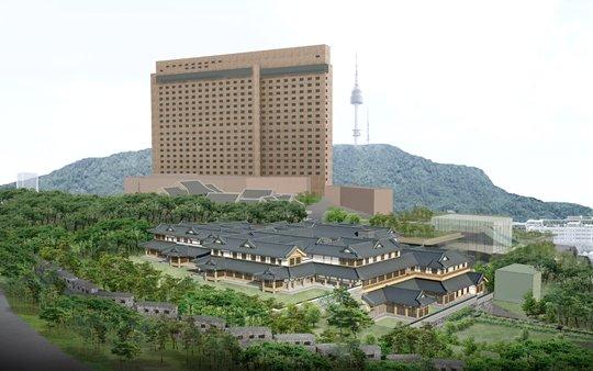 내년 초 착공 예정인 호텔신라의 한옥호텔 투시도. /사진=호텔신라