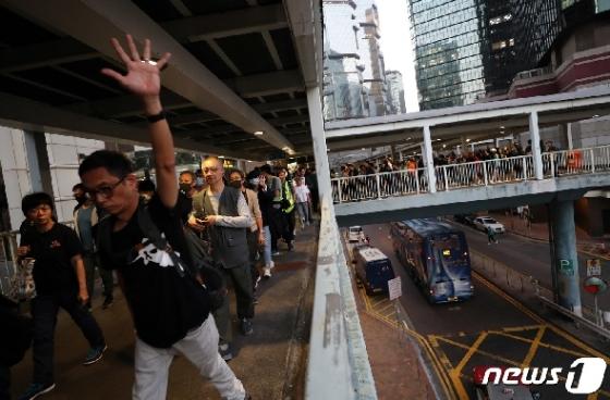 [사진] '홍콩 시민들의 요구는'