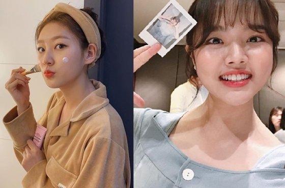 좌측부터 '아저씨'의 김새론, 'CF 요정'김향기. / 사진 = 인스타그램