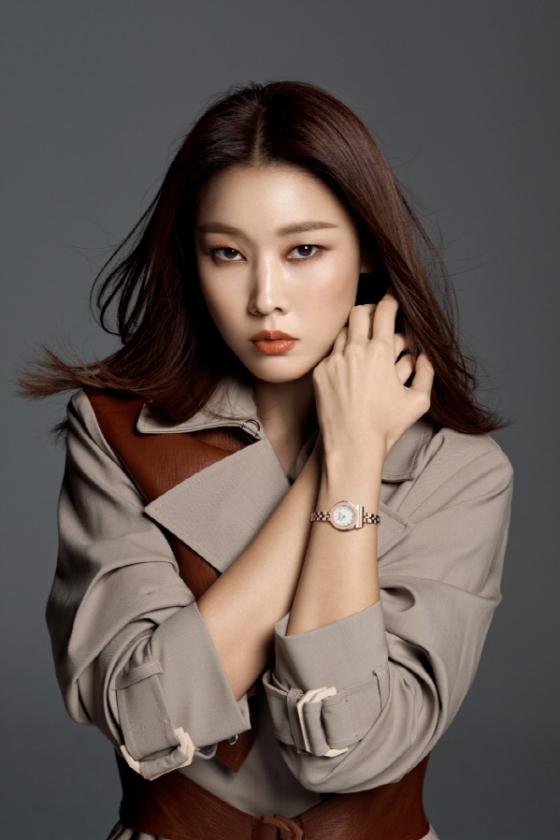 모델 한혜진/사진제공=페라가모 타임피스