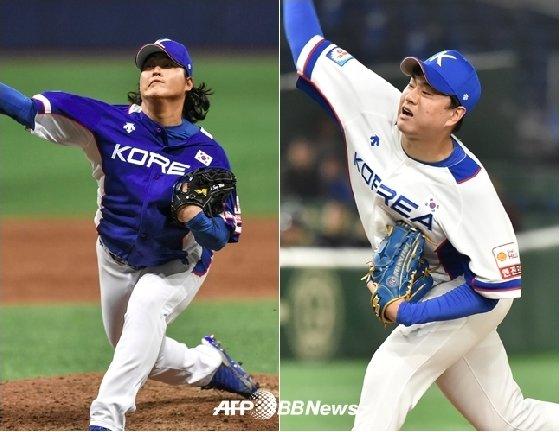 조상우(왼쪽)와 이영하. /AFPBBNews=뉴스1