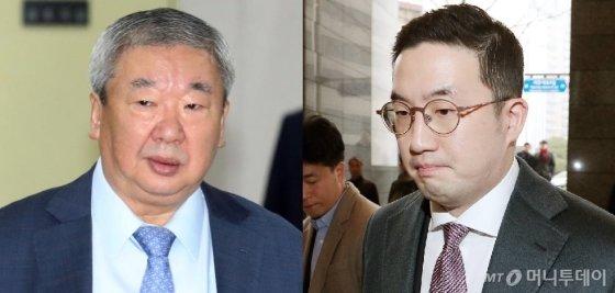구광모 LG 회장(오른쪽)과 친부인 구본능 희성그룹 회장(왼쪽). /사진=머니투데이 DB