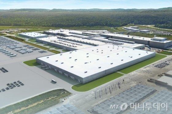 미국 테네시주 차타누가에 있는 폭스바겐 완성차 공장에 새로 지어질 '전기차 전용 생산라인' 조감도/사진=폭스바겐