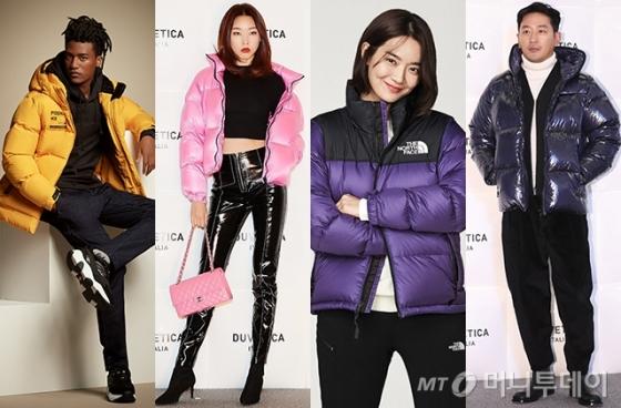 모델 한현민, 한혜진, 배우 신민아, 하정우 /사진제공=K2, 듀베티카, 노스페이스