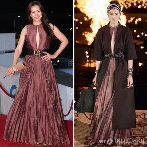 이하늬 vs 모델, 과감한 트임 드레스…