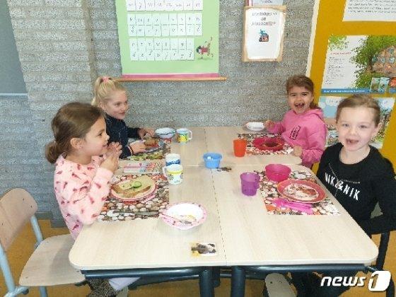 네덜란드에서는 매년 한주간 '아침먹기' 행사를 통해 아이들에게 올바른 식습관을 가르친다. © 뉴스1 차현정 통신원