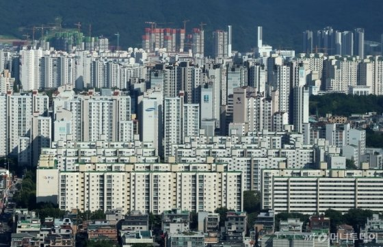 서울 강남권 아파트 단지 전경. /사진제공=뉴시스