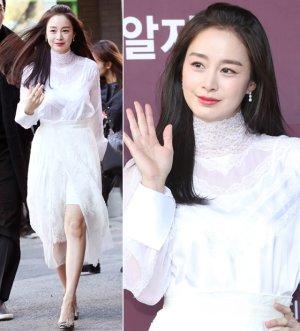 둘째 출산 후 첫외출 김태희의 패션은?