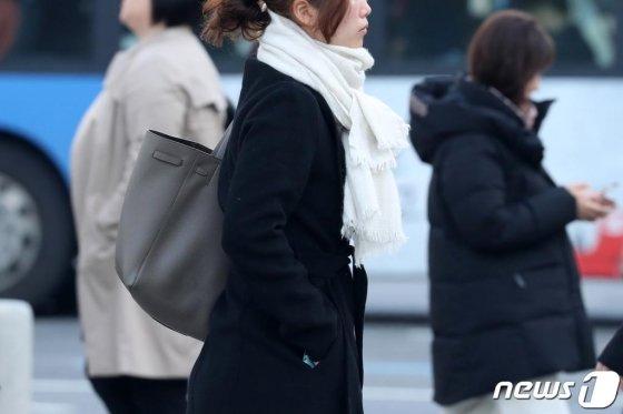 전국적으로 쌀쌀한 날씨를 보인 지난달 12일 오전 서울 세종대로 광화문광장 인근에서 시민들이 발걸음을 재촉하고 있다. /사진=뉴스