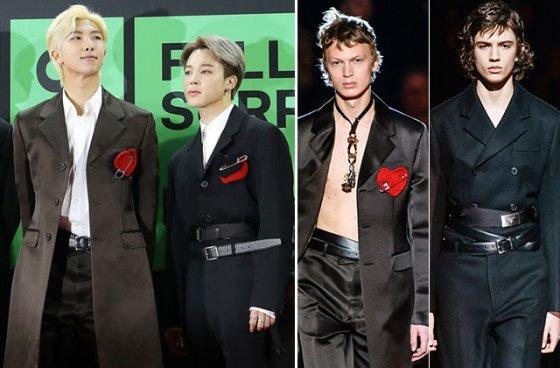 그룹 방탄소년단 RM, 지민/사진=뉴스1, 프라다