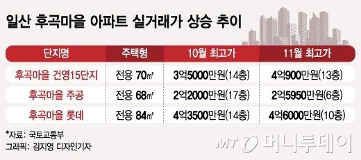 """""""한달새 8000만원 올라"""" 25년차 일산 아파트, 무슨 일?"""