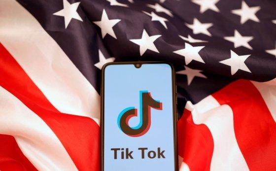 미국 국기와 틱톡 로고. /사진=로이터