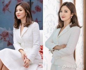송혜교, 전시회 포착…SNS에 관람 중인 모습 공개